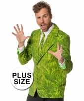 Grote maten foute kleding heren maatpak gras