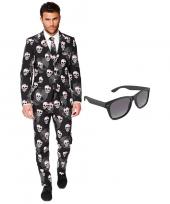 Halloween heren foute kleding maat 54 xxl met gratis zonnebril