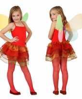 Meisjes vlinder foute kleding rood