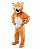 Pluche vos foute kleding voor volwassenen