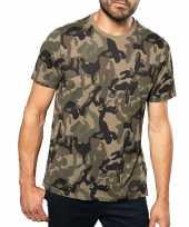 Soldaten leger foute kleding camouflage shirt heren